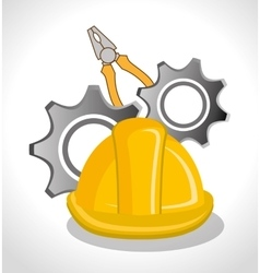 Under construction tools vector