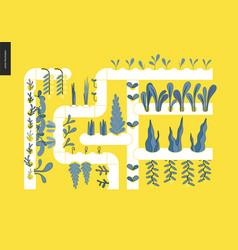 Urban farming and gardening - hydroponics vector