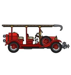 Vintage fire truck vector