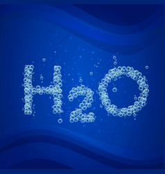 Water bubble background h2o vector