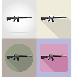 weapon flat icons 04 vector image