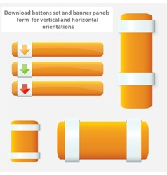 web elements banners and buttons set vector image