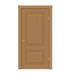Wooden door isolated vector