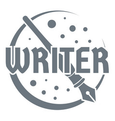 Writer logo vintage style vector