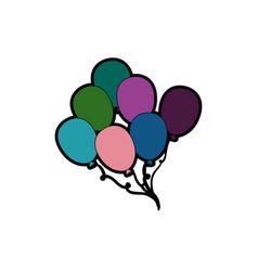 Balloons cute flying vector
