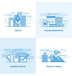 flat line designed concepts 10 vector image