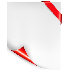 Holiday background with red ribbon vector image vector image
