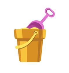 kid toy or children plaything sand bucket scoop vector image vector image