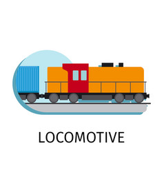 Locomotive in flat style vector