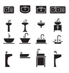 sink icon set vector image