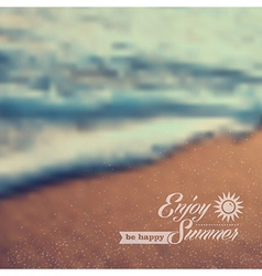 Summer beach vintage blurred background vector image vector image