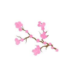 Cherry blossom sakura flowers icon cartoon style vector image