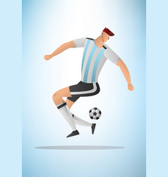 football player 09 vector image vector image