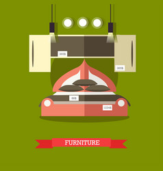 furniture shop concept in flat vector image
