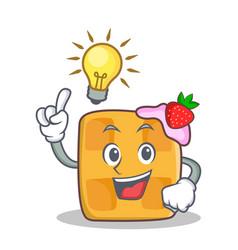 have an idea waffle character cartoon design vector image vector image