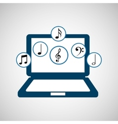 music player design vector image vector image