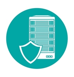 Server related shield icon image vector
