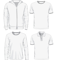 Set of male shirts vector image