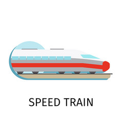 speed train in flat style vector image vector image