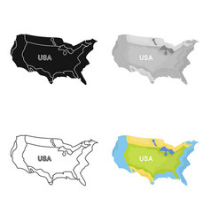 Territory of the united states icon in cartoon vector