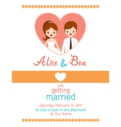 Wedding Invitation Card Template Bride And Groom vector image vector image