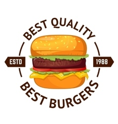 Best burgers Hamburger vector image vector image