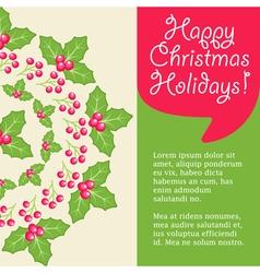 Mistletoe Card vector image vector image