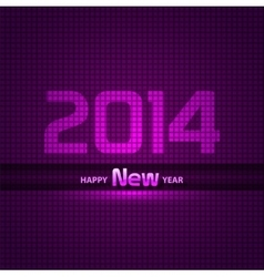 New Year 2014 background glowing neon EPS 10 vector image