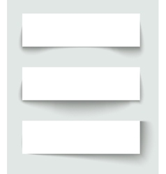 set of banners with different shadows vector image vector image