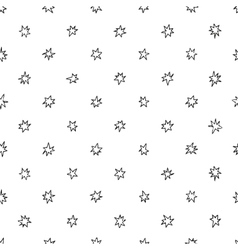 Simple seamless pattern with stars vector image