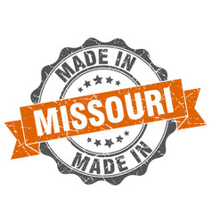 made in missouri round seal vector image