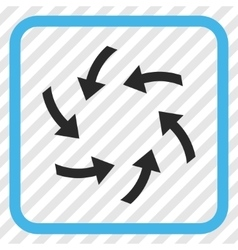 Swirl arrows icon in a frame vector