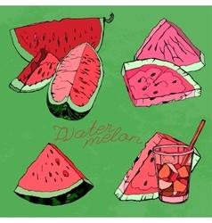 Watermelon 06 A vector image vector image