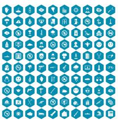 100 tension icons sapphirine violet vector image