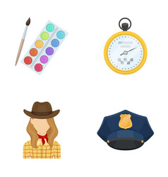 Art rodeo and other web icon in cartoon style vector