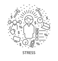 banners for stress vector image