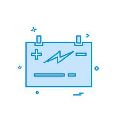 Battery power jumper icon design vector