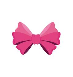 bow ribbon decoration celebration image vector image