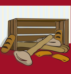 bread in a box vector image