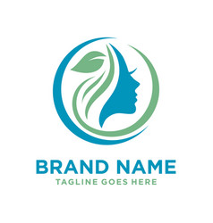 care and beauty logo vector image