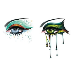 Carnival Eyes vector image