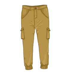 Cartoon - light brown jogger pants vector