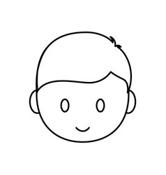 Cartoon man face icon vector