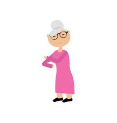 cartoon of a grandmother vector image