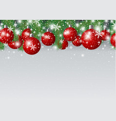 Christmas Background Design Of Red Xmas Ball And Vector