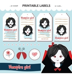Collection printable gift tag label vector