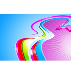 Colorful curve abstract background vector image