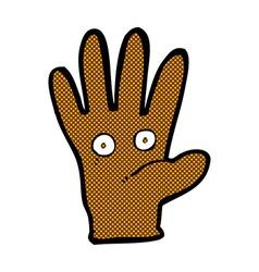 Comic cartoon hand with eyes vector