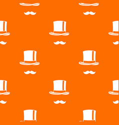 cylinder and moustaches pattern seamless vector image