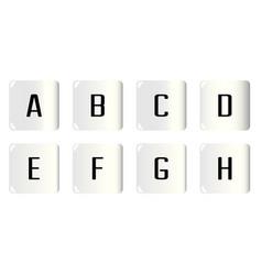 Dice alphabet a to h vector